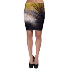 Tree Art Artistic Abstract Background Bodycon Skirt