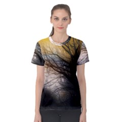 Tree Art Artistic Abstract Background Women s Sport Mesh Tee