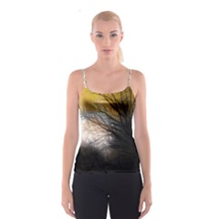 Tree Art Artistic Abstract Background Spaghetti Strap Top