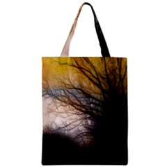 Tree Art Artistic Abstract Background Zipper Classic Tote Bag