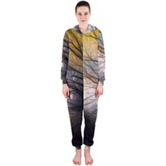 Tree Art Artistic Abstract Background Hooded Jumpsuit (ladies)