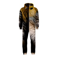 Tree Art Artistic Abstract Background Hooded Jumpsuit (kids)
