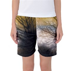 Tree Art Artistic Abstract Background Women s Basketball Shorts