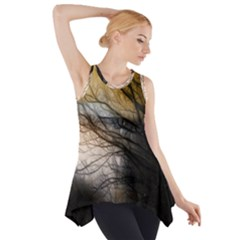 Tree Art Artistic Abstract Background Side Drop Tank Tunic