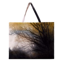 Tree Art Artistic Abstract Background Zipper Large Tote Bag