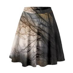 Tree Art Artistic Abstract Background High Waist Skirt