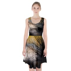 Tree Art Artistic Abstract Background Racerback Midi Dress