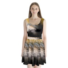 Tree Art Artistic Abstract Background Split Back Mini Dress