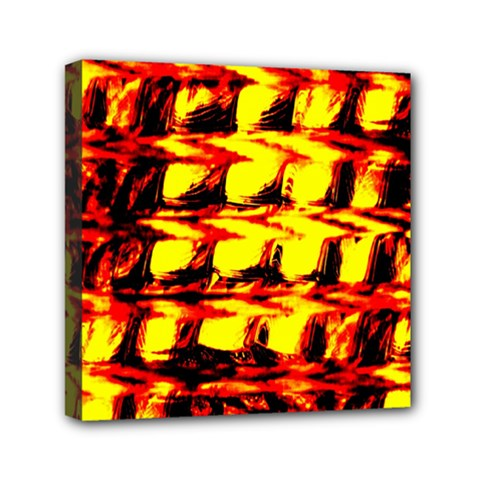 Yellow Seamless Abstract Brick Background Mini Canvas 6  X 6