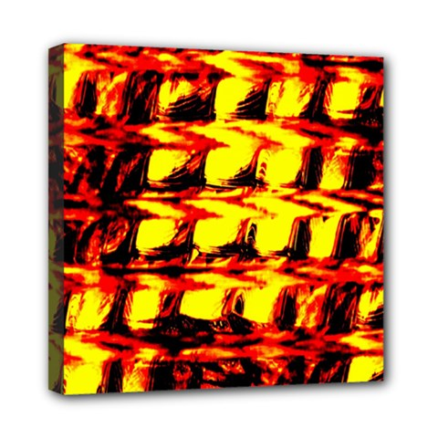 Yellow Seamless Abstract Brick Background Mini Canvas 8  X 8