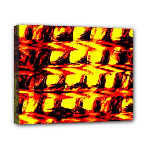 Yellow Seamless Abstract Brick Background Canvas 10  x 8