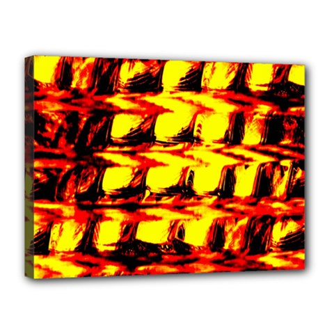 Yellow Seamless Abstract Brick Background Canvas 16  X 12