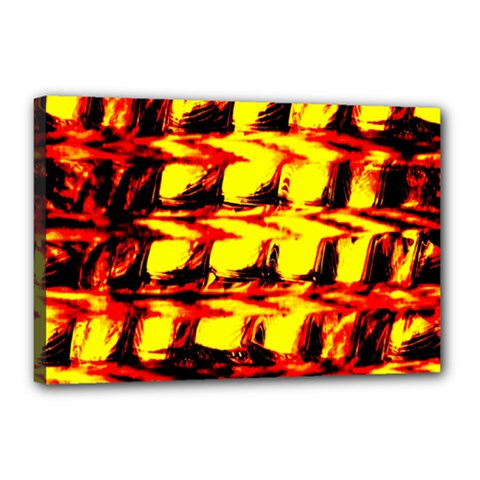 Yellow Seamless Abstract Brick Background Canvas 18  X 12