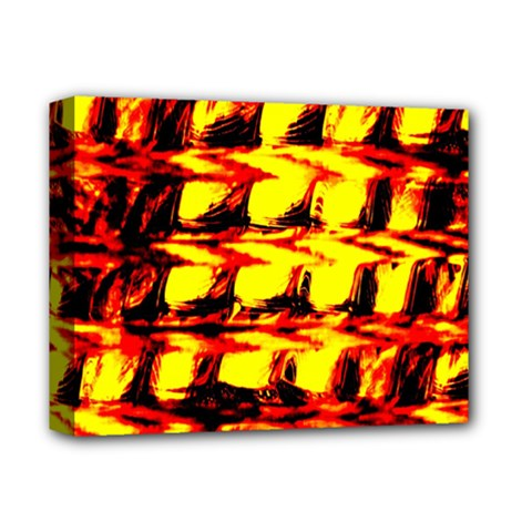 Yellow Seamless Abstract Brick Background Deluxe Canvas 14  x 11