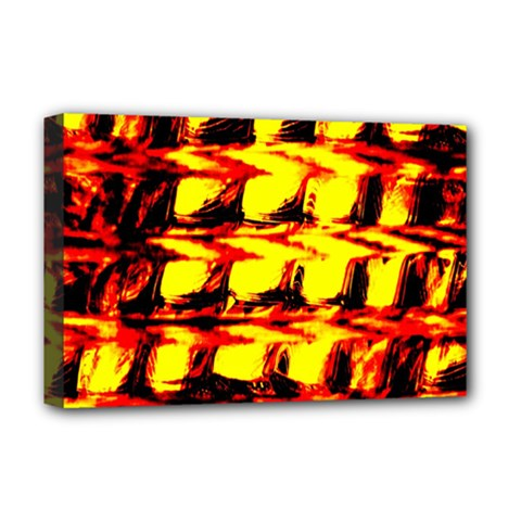 Yellow Seamless Abstract Brick Background Deluxe Canvas 18  x 12