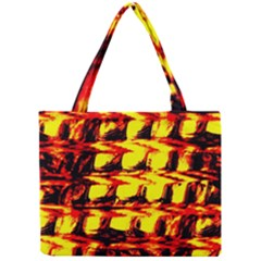 Yellow Seamless Abstract Brick Background Mini Tote Bag