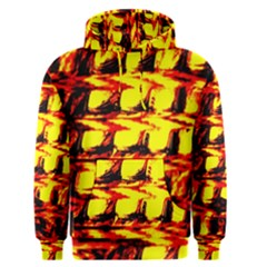 Yellow Seamless Abstract Brick Background Men s Pullover Hoodie