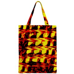 Yellow Seamless Abstract Brick Background Zipper Classic Tote Bag
