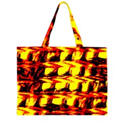 Yellow Seamless Abstract Brick Background Large Tote Bag