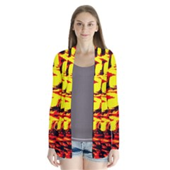 Yellow Seamless Abstract Brick Background Cardigans