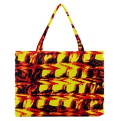 Yellow Seamless Abstract Brick Background Medium Zipper Tote Bag