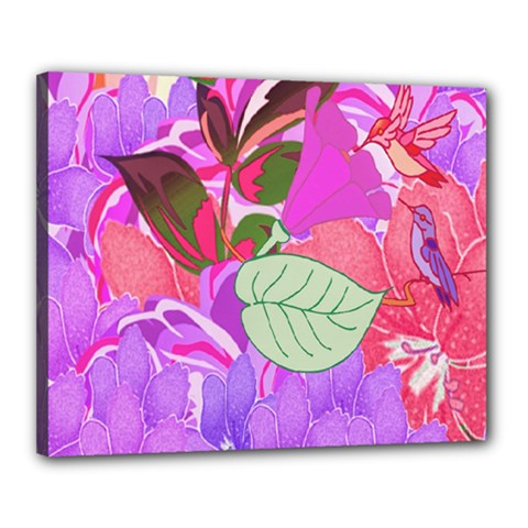 Abstract Design With Hummingbirds Canvas 20  x 16