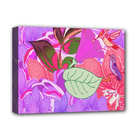 Abstract Design With Hummingbirds Deluxe Canvas 16  x 12