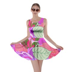 Abstract Design With Hummingbirds Skater Dress