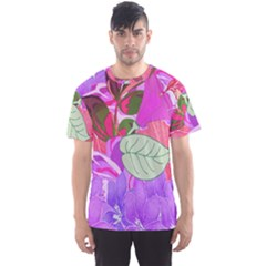 Abstract Design With Hummingbirds Men s Sport Mesh Tee