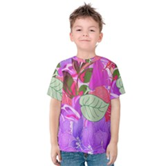 Abstract Design With Hummingbirds Kids  Cotton Tee