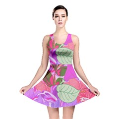 Abstract Design With Hummingbirds Reversible Skater Dress