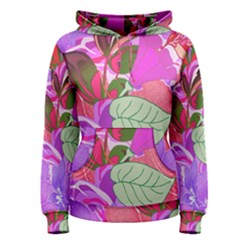Abstract Design With Hummingbirds Women s Pullover Hoodie