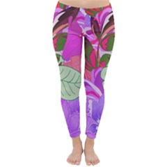 Abstract Design With Hummingbirds Classic Winter Leggings