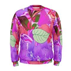 Abstract Design With Hummingbirds Men s Sweatshirt