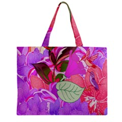 Abstract Design With Hummingbirds Zipper Mini Tote Bag