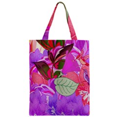 Abstract Design With Hummingbirds Zipper Classic Tote Bag
