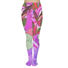 Abstract Design With Hummingbirds Women s Tights