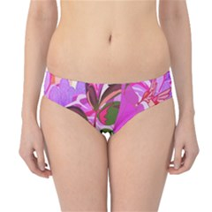 Abstract Design With Hummingbirds Hipster Bikini Bottoms