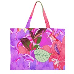 Abstract Design With Hummingbirds Large Tote Bag