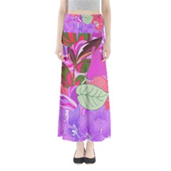Abstract Design With Hummingbirds Maxi Skirts