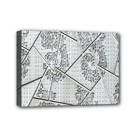The Abstract Design On The Xuzhou Art Museum Mini Canvas 7  x 5