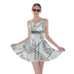 The Abstract Design On The Xuzhou Art Museum Skater Dress