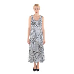 The Abstract Design On The Xuzhou Art Museum Sleeveless Maxi Dress