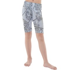 The Abstract Design On The Xuzhou Art Museum Kids  Mid Length Swim Shorts