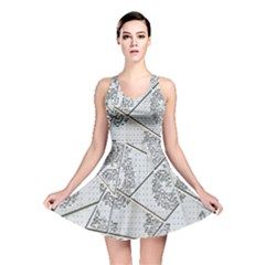 The Abstract Design On The Xuzhou Art Museum Reversible Skater Dress