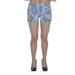 The Abstract Design On The Xuzhou Art Museum Skinny Shorts