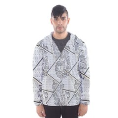 The Abstract Design On The Xuzhou Art Museum Hooded Wind Breaker (Men)