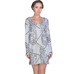 The Abstract Design On The Xuzhou Art Museum Long Sleeve Nightdress