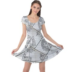The Abstract Design On The Xuzhou Art Museum Cap Sleeve Dresses