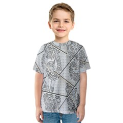 The Abstract Design On The Xuzhou Art Museum Kids  Sport Mesh Tee